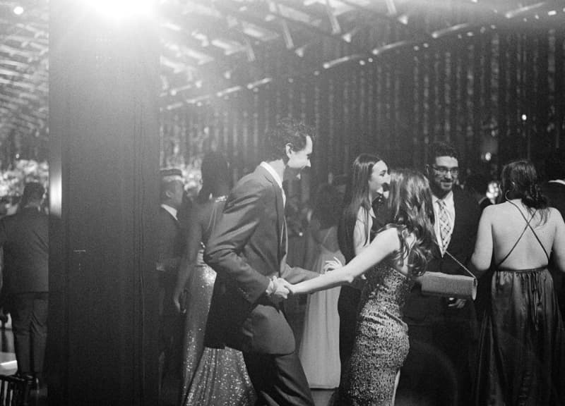 A couple on the dance floor at an event